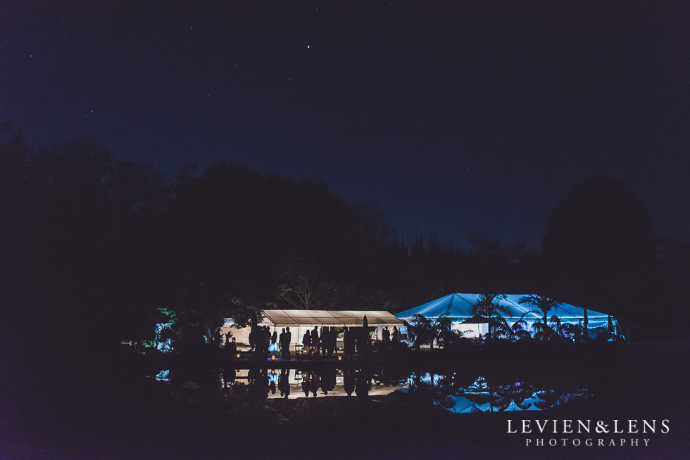 night time reception photos marquee - Liddington Gardens - Kerkeri Northland {NZ destination wedding photographer}
