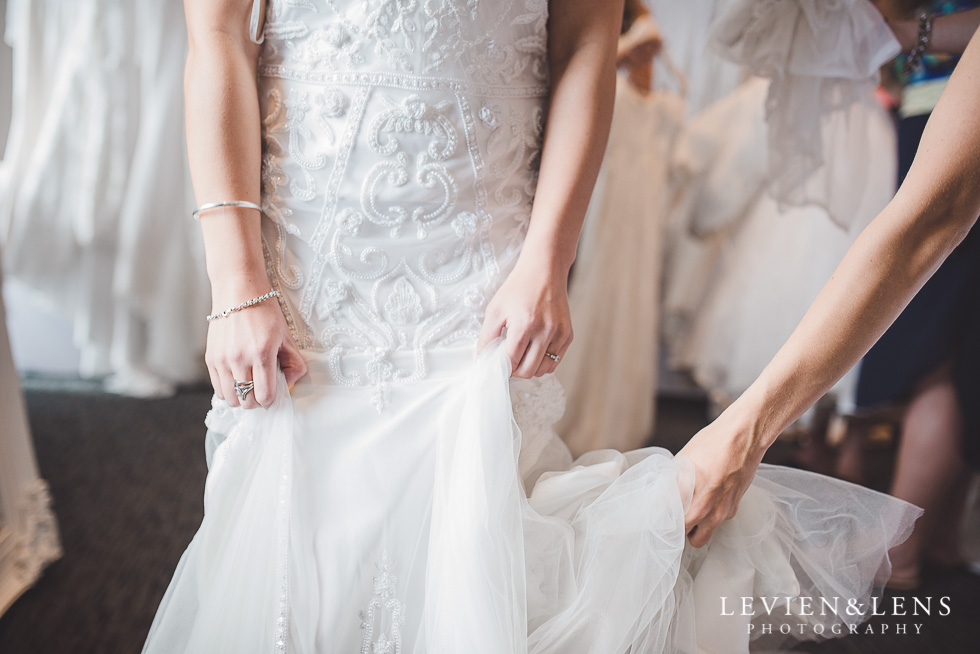 dress details - Trish Peng Christmas Bridal High Tea - Sofitel Viaduct Hotel {Auckland wedding photographer}