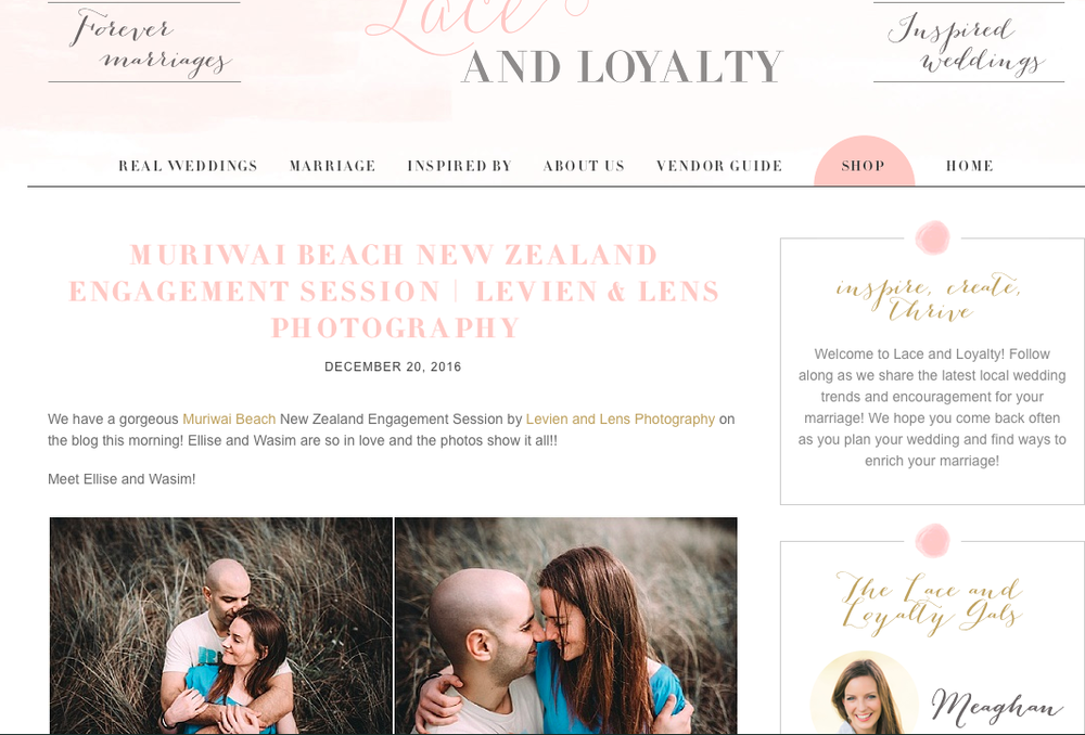 Muriwai Beach engagement session published {Auckland wedding photographer}