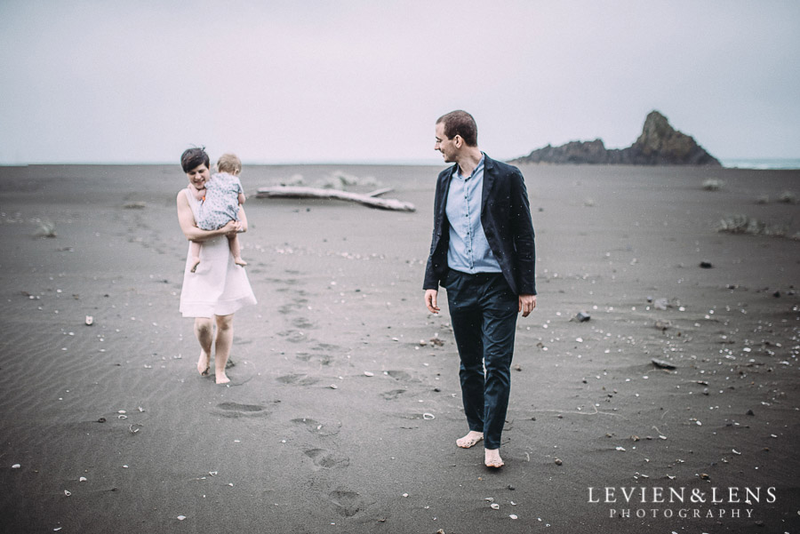 bride groom - Karekare Beach post-wedding | elopement photo shoot {Auckland NZ couples-weddings photographer}