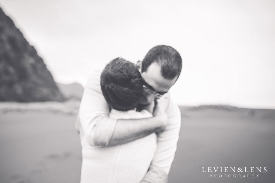 couple - Karekare Beach post-wedding | elopement photo shoot {Auckland NZ couples-weddings photographer}