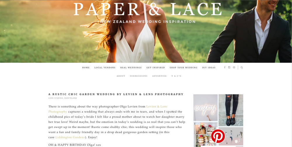 paper & lace publication {levien & lens photography}