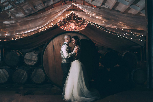 Women Getting Married - Rainy and Rustic New Zealand Vineyard Wedding - Markovina {Auckland weddings photographers} publication