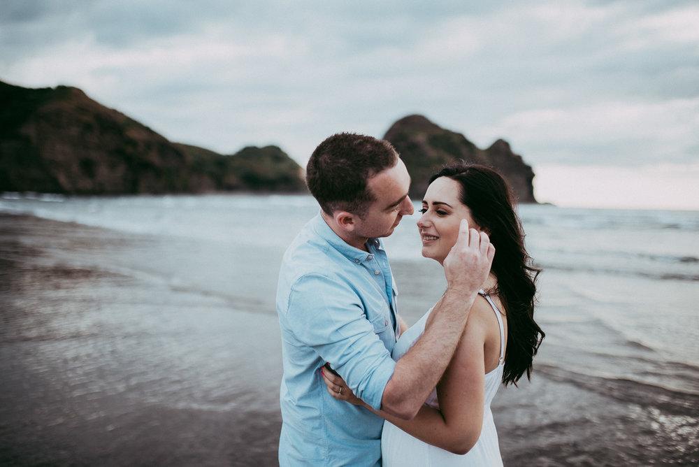Piha Beach Pre-wedding | engagement session {Auckland wedding photographer - New Zealand}