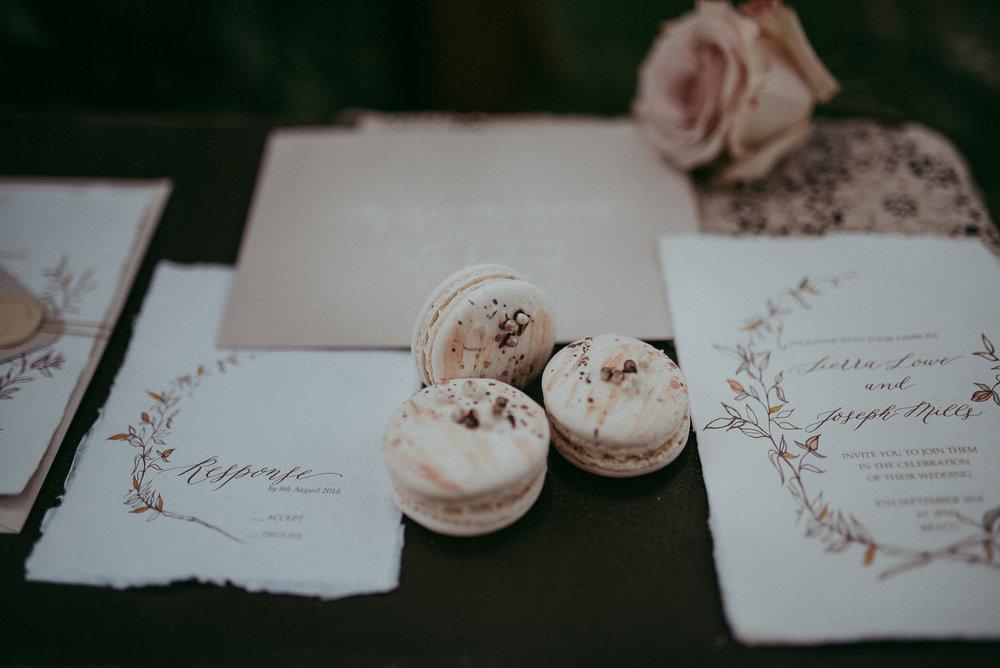 Wedding details - macaroons {Auckland wedding photographer}
