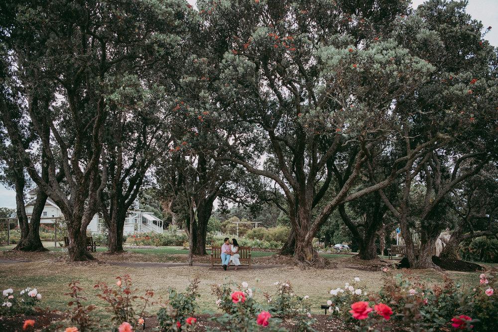 Anita & Jay , Parnell Rose Garden