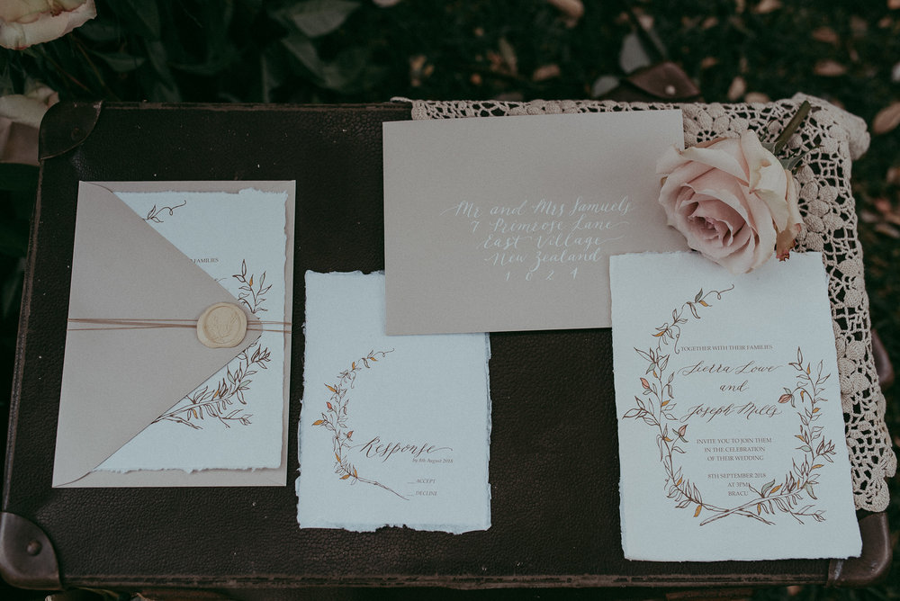 styled-shoot-by-olgalevien- Auckland wedding photographer - Inkberry Calligraphy