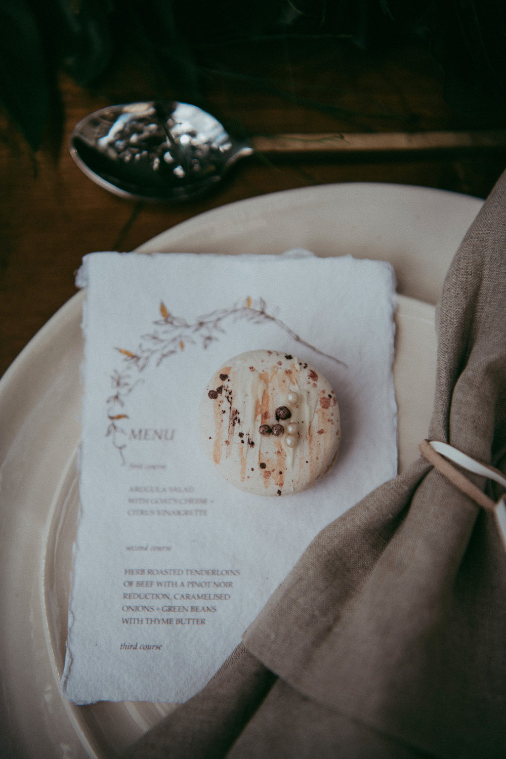 macaroons from Magnolia Kitchen - photos by Levien and Lens photography - Auckland wedding photographers | styling Envy Events