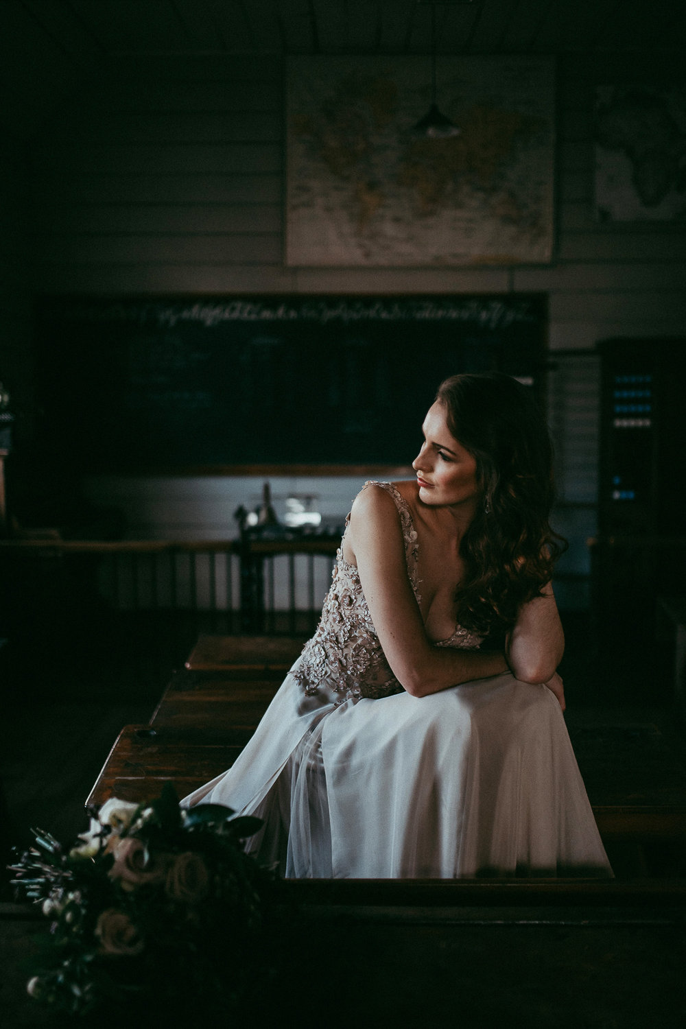 bride at old school - MOTAT {Auckland weddings photographer}