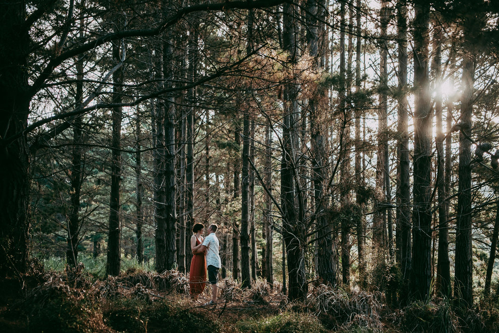 Bethells Lake {West Auckland} engagement | pre-wedding photo shoot {New Zealand weddings photographers} forest capture