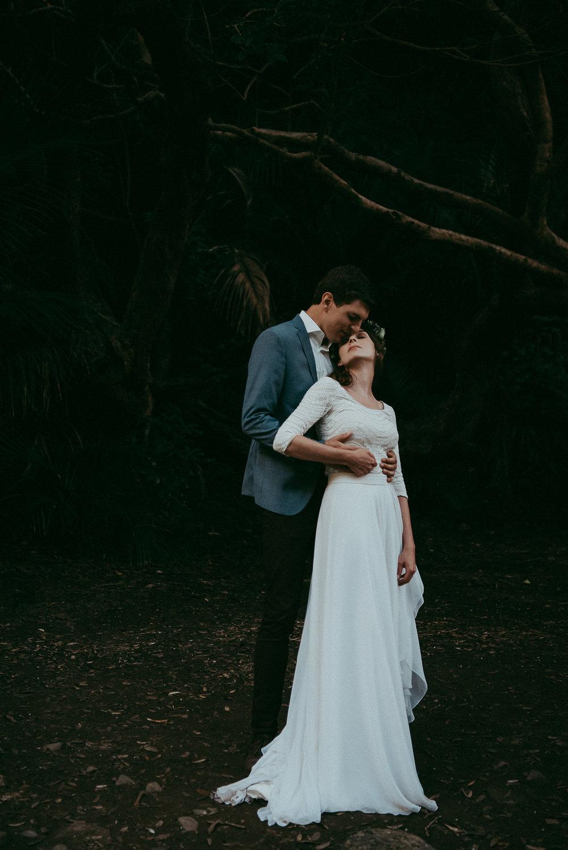 New Zealand surprised elopement {Karekare Falls} Auckland wedding photographer