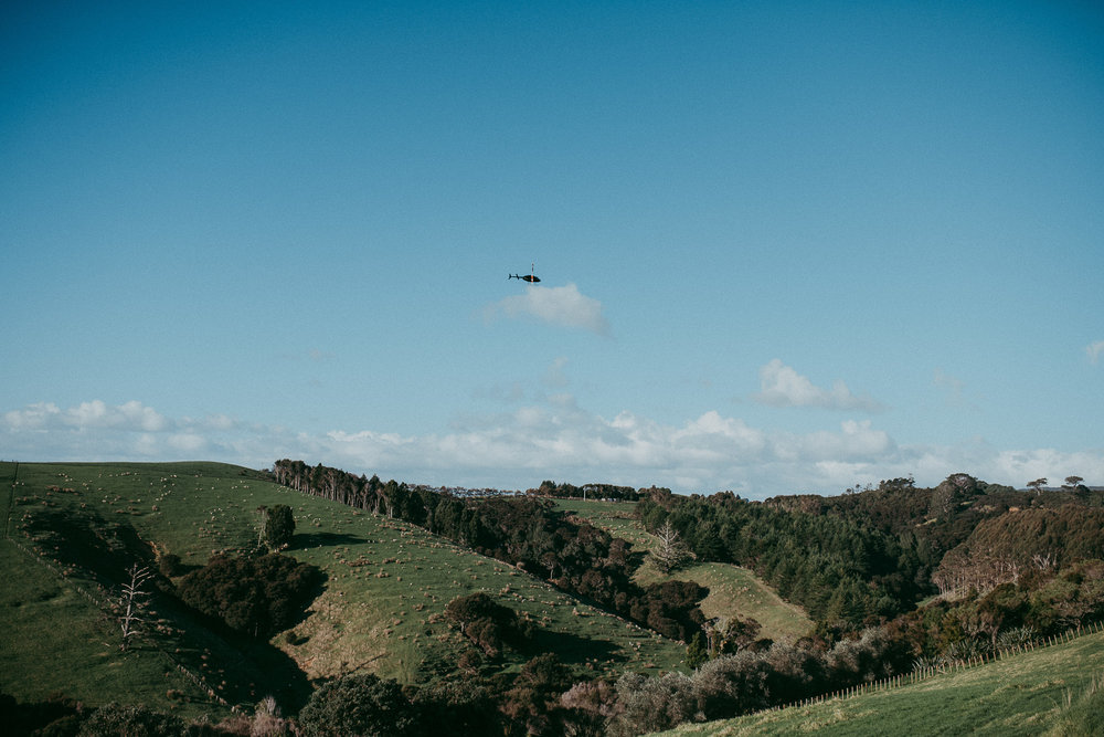 Kauri Bay Boomrock - Clevedon: {Auckland wedding helicopter}