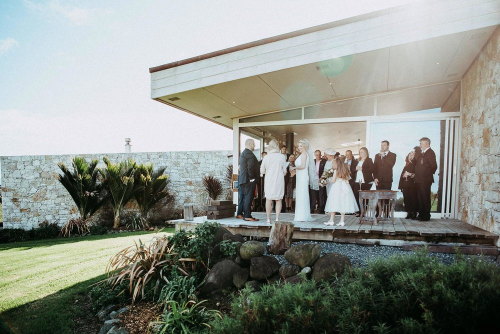 Tawharanui Winter Wedding - Koru House {Auckland elopement-engagement photographer}