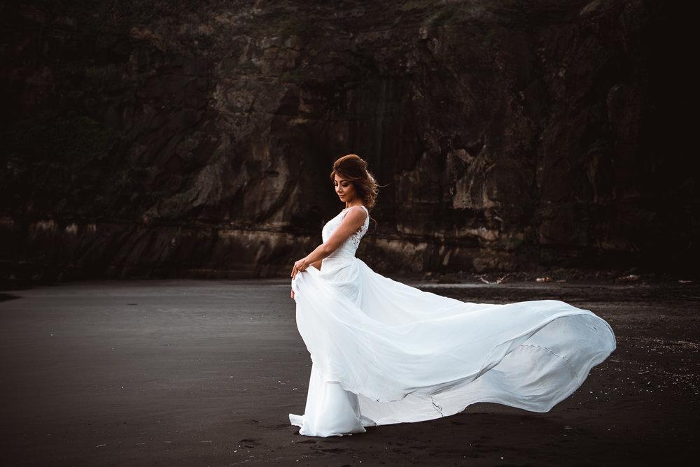 Muriwai Beach post-wedding session Sneak Peek {Auckland engagement - elopement photographer}