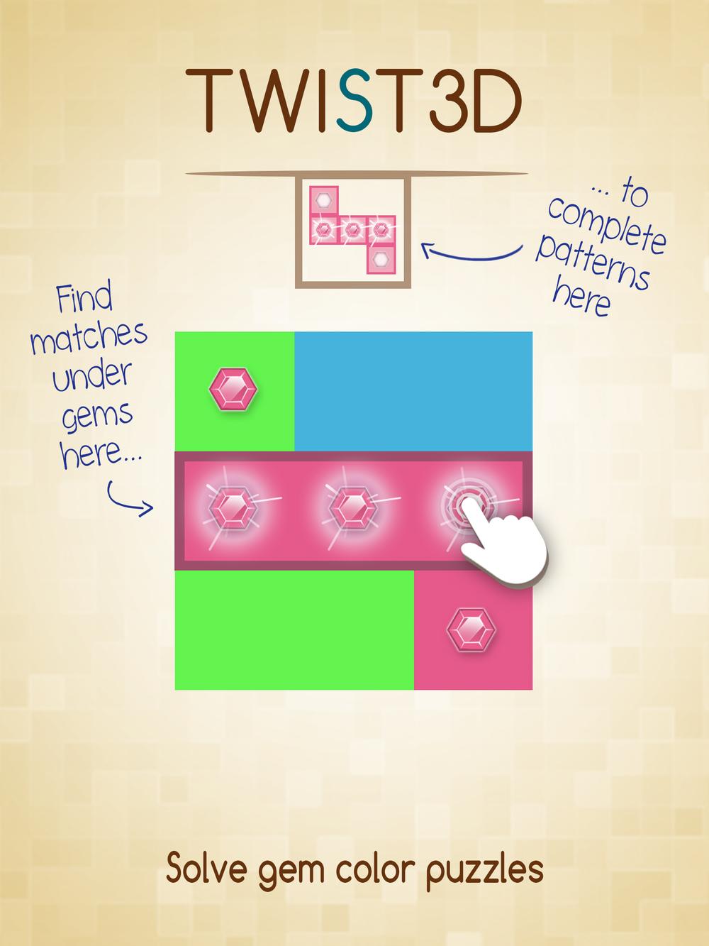 Solve Gem Color Puzzles