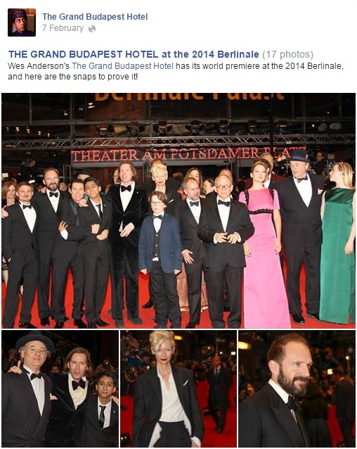 The Grand Budapest Hotel World Premiere - Fox Searchlight International