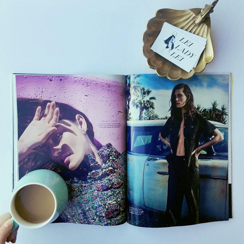 Dreaming of Chanel with Pheobe Tonkin in Elle Aus. Via  LeiLadyLeiBog Instagram.