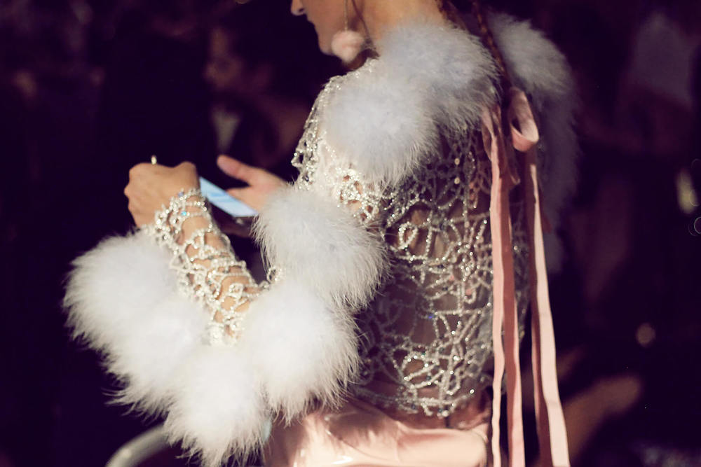 Fashion illustrator  Pippa McManus  wearing  Dyspnea