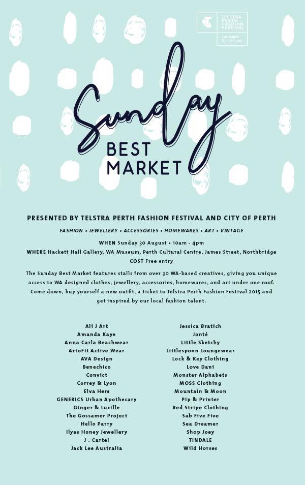 Official Blogger for TPFF's Sunday Best Market