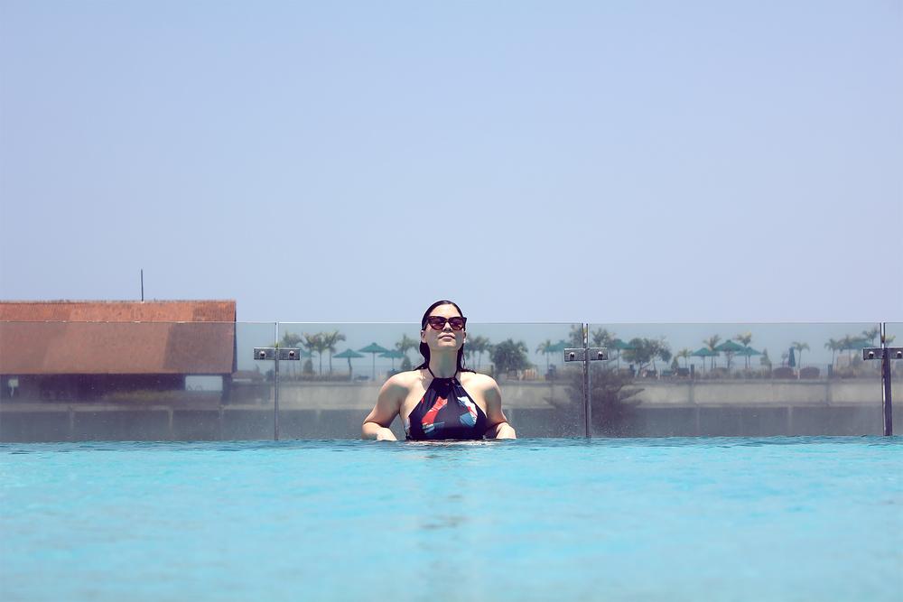 IZE Seminyak Rooftop Pool Lei Lady Lei
