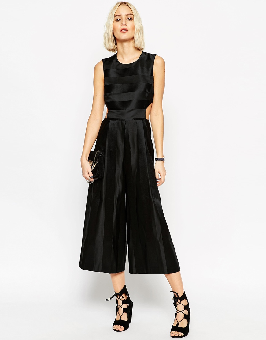 ASOS Jumpsuit with Satin Stripe