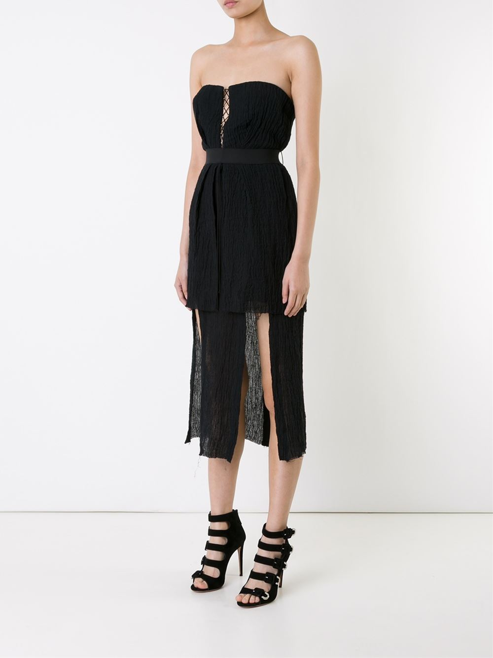 KITX   A  symmetrical Bustier Dress
