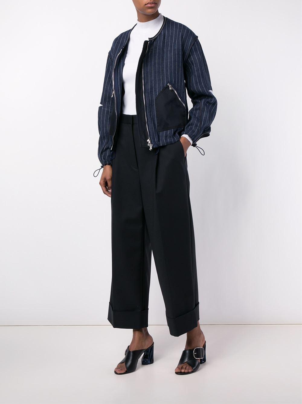 3.1 Phillip Lim pinstripe bomber jacket