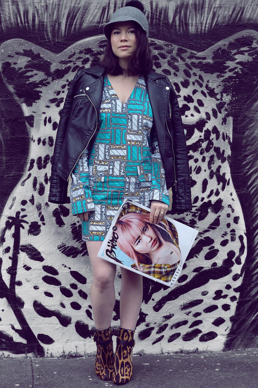 Sabini Dress in Mraba print
