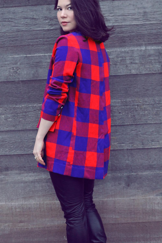 Koti Blazer in Kubwa check fabric
