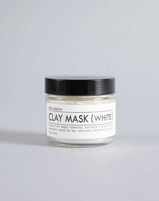 Fig & Yarrow Clay Mask White