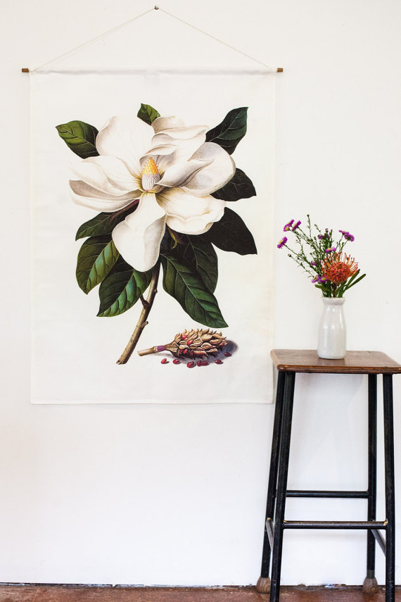 Botanic Print Wall Art by mybeardedpigeon