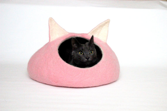Pink Cat Bed