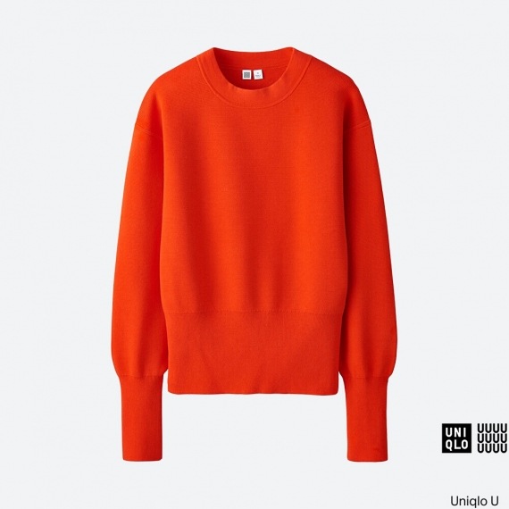 WOMEN Uniqlo U Milano Ribbed Crew Neck Sweater AU$59.90