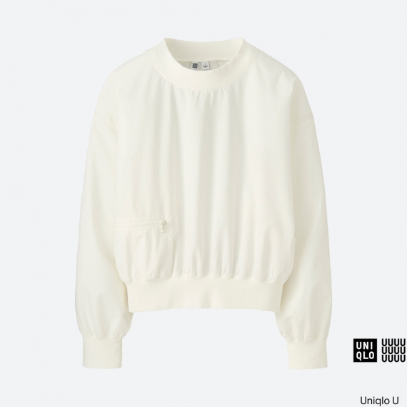 WOMEN Uniqlo U Cotton Long Sleeve T Blouse AU$49.90
