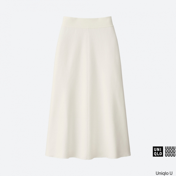 WOMEN Uniqlo U Milano Ribbed Aline Skirt AU$59.90