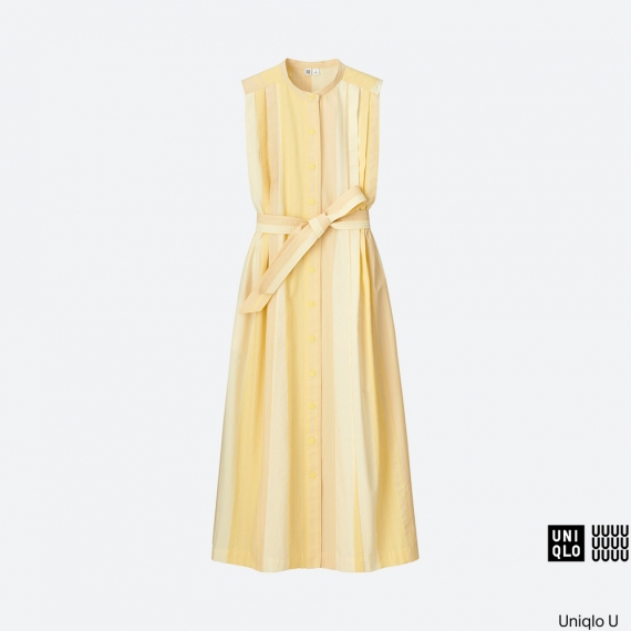 WOMEN Uniqlo U Seersucker Sleeveless Long Dress AU$79.90