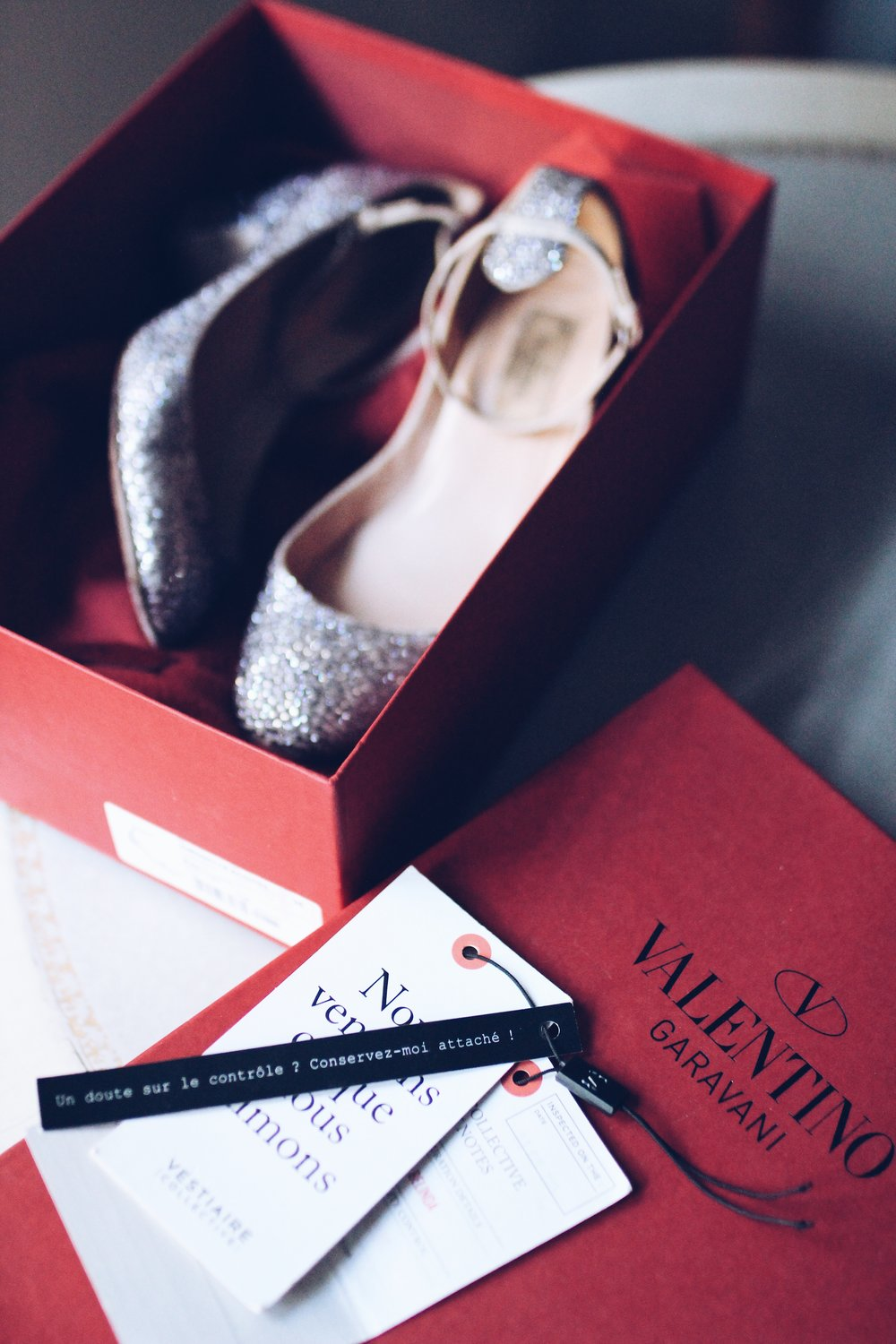 My Valentino Tango heels bought from Vestiaire Collective for my wedding in February 2016.