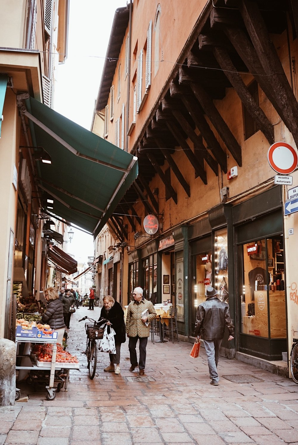 streets of Bologna, Italy