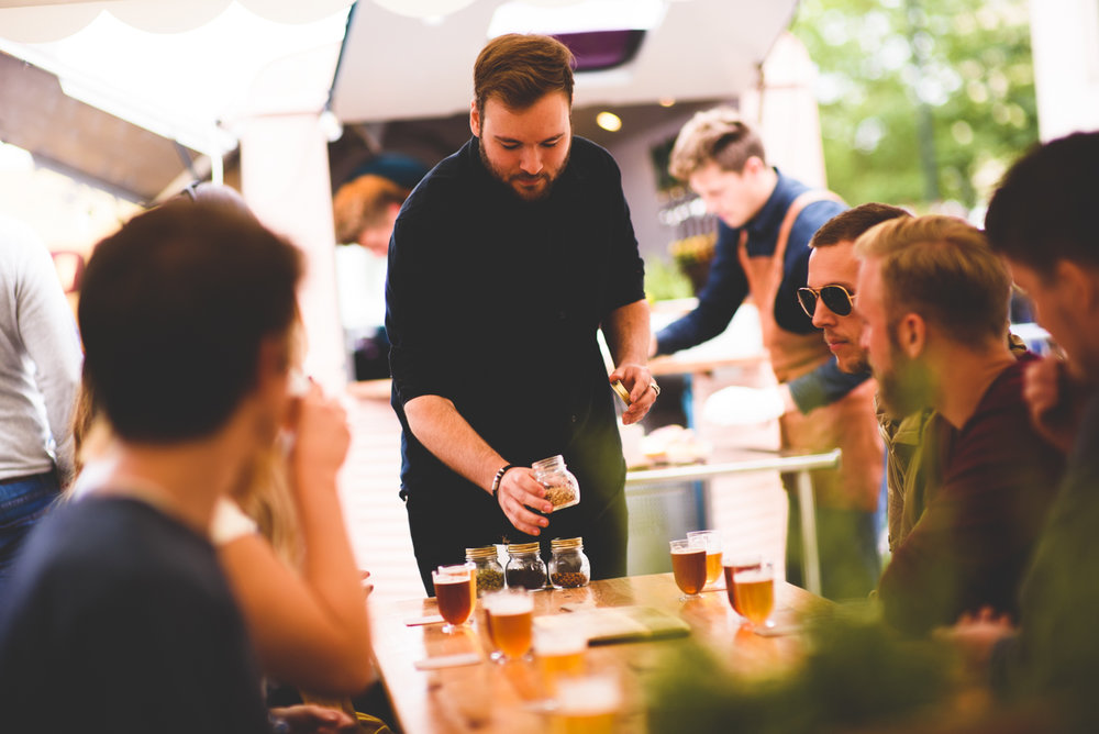 - The concept includes a food and beverage truck, a course for food pairings, and beverage ambassadors.