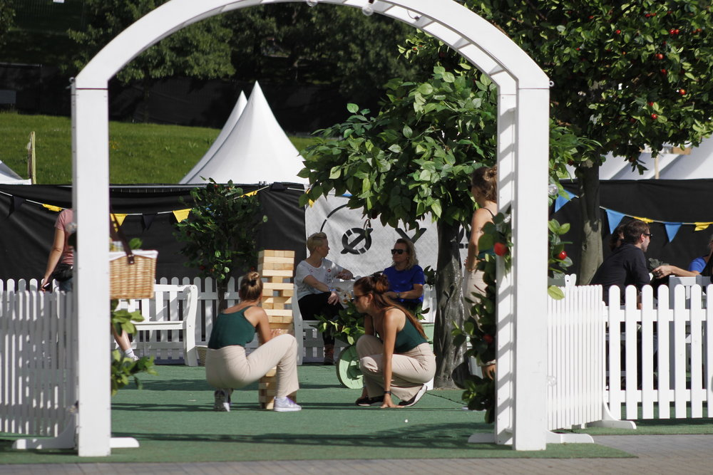 - Every summer the orchard brings a relaxed, summerly feeling for thousands of festival goers.