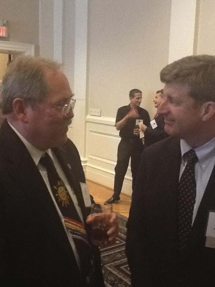 CCAPP President Warren Daniels talks to former U.S. Representative Patrick Kennedy (D-RI)