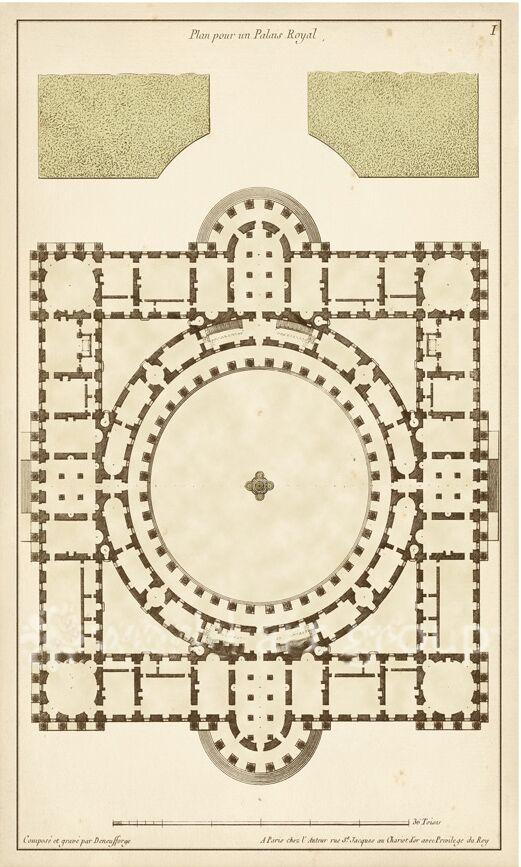Antique Garden Plan - 4A