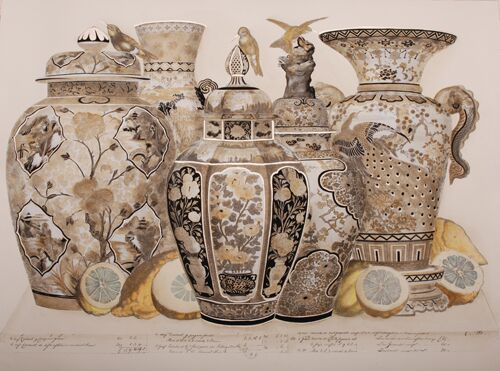 Oriental Urn Collage