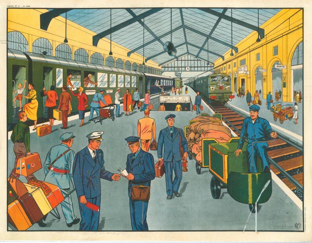 Tableau No. 31, La Gare