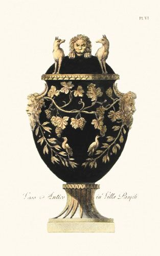 Black and Gold Urn 3