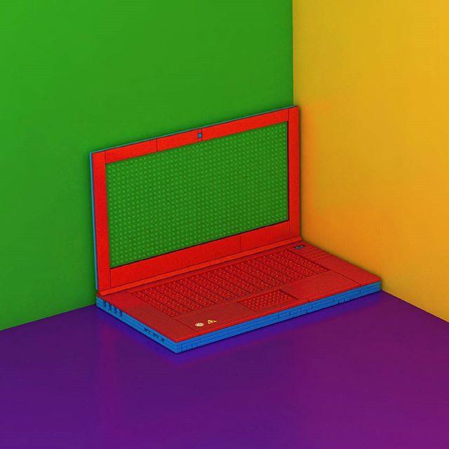 Em tempos fiz um computador feito de Legos. Infelizmente esse computador nunca viu a luz do dia. - - - - - - - - #design #typography #graphicdesign #graphics #designinspiration #vector #portugal #art #instagood  #igersportugal #poster #microsoft #office #computer #creativeroom #designers #3d #cinema4d #dribble