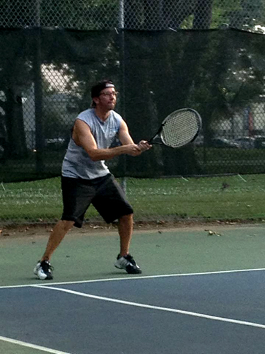 Russ Terry, Life Coach  Me playing tennis
