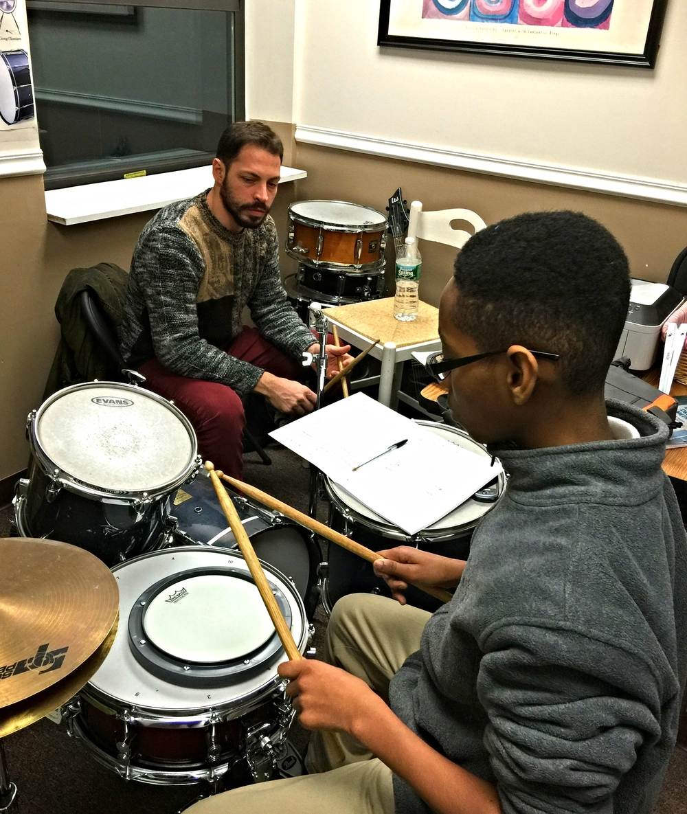 Myles takes lessons with Mr. Giaquinto