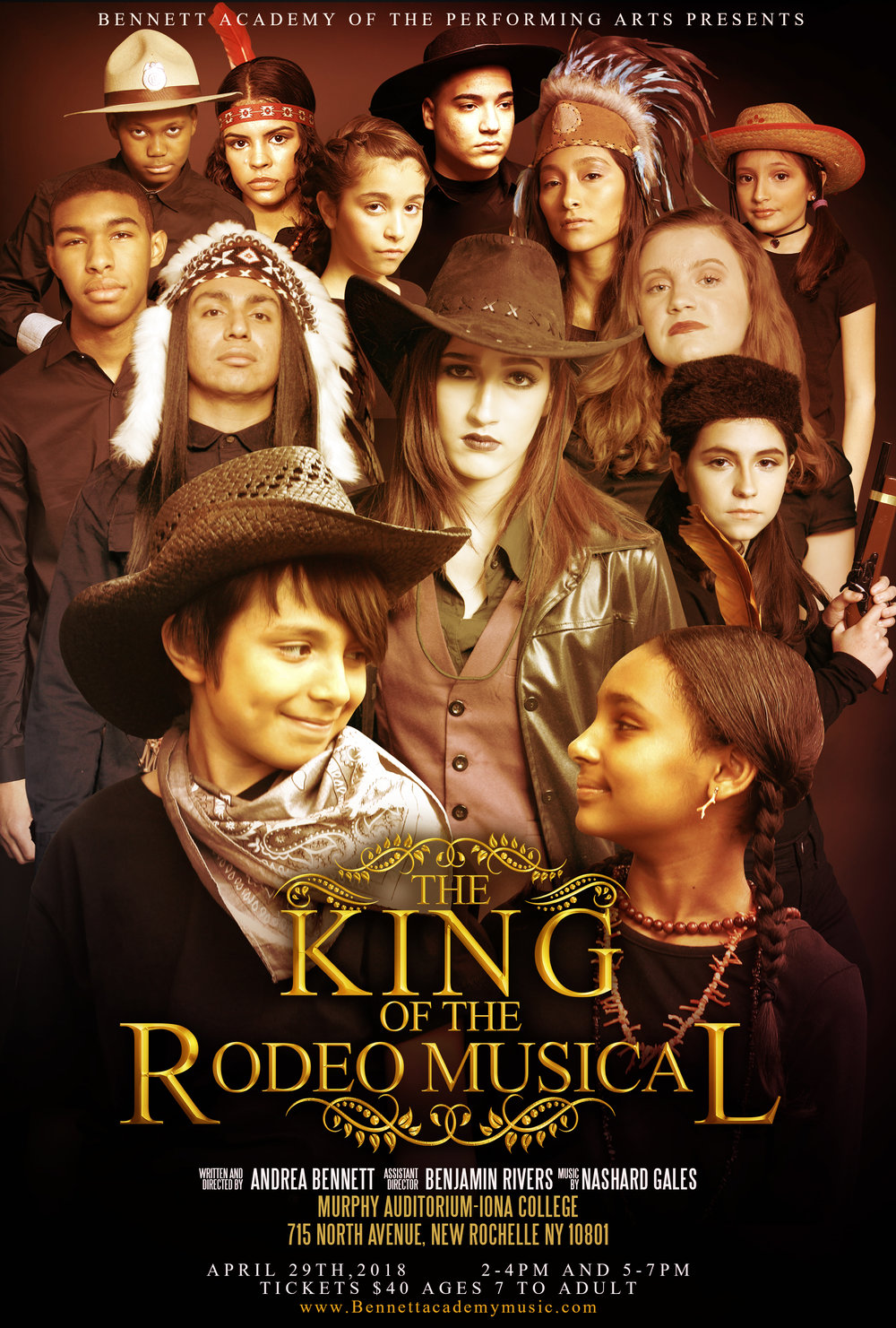 PLAYBILL for our Off Broadway Play-The King Of The Rodeo-(debut June 24-25,2017 at The John Cullum Theater)