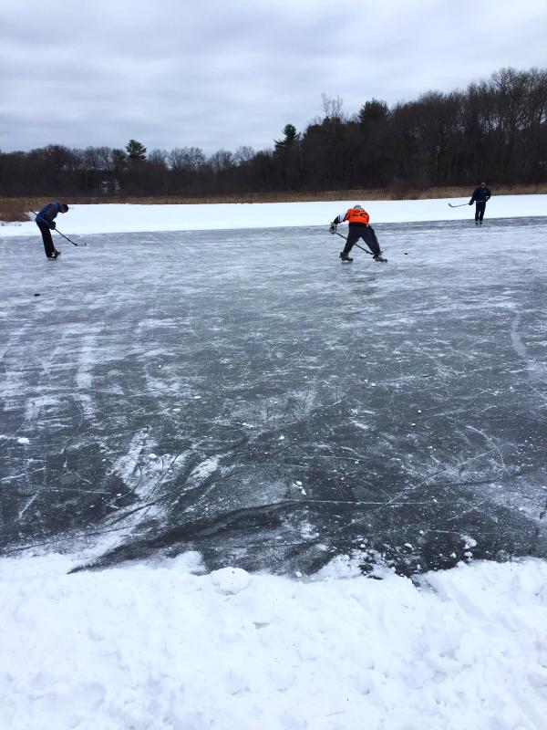 pond hockey, walpole